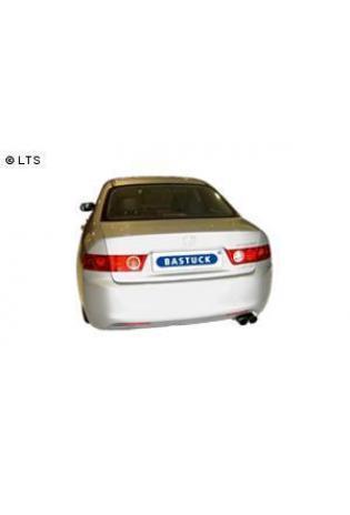 Honda Accord ab Bj. 02 (nicht Kombi) 2.0l  2.2l i-CTDi  BASTUCK Sportauspuff inkl. Zubehör 2 x 76mm (AnschlussØ 63mm)