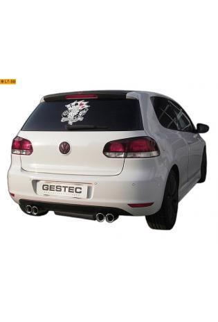 Einzelanfertigung Sportauspuff  Für VW Golf 6 2.0 TDI Edelstahl Endschalldämpfer