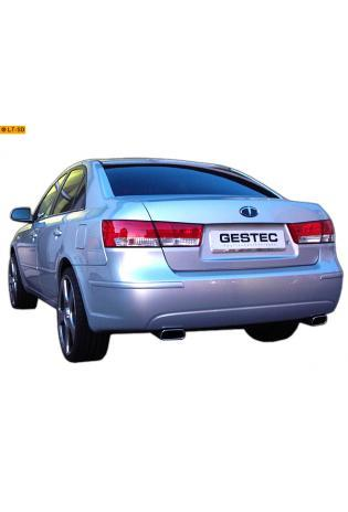 Einzelanfertigung Sportauspuff Komplettanlage ab Kat. Für Hyundai Sonata 2.0 CRDi (103kW)