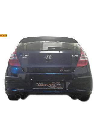Hyundai i30 1.4l  1.6l  2.0l  1.6l CRDi  2.0l CRDi  BASTUCK Duplex Sportauspuff inkl. Zubehör rechts links je 2 x 76mm schräg (AnschlussØ 63mm)