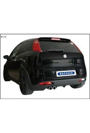Fiat Grande Punto 1.4l  1.6l JTD  1.9l JTD ab Bj. 05 inkl. Abarth ab Bj. 08  BASTUCK Sportauspuff 2 x 76mm eingerollt (AnschlussØ 63mm)