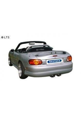 Mazda MX5 Typ NB Bj. 98-05 1.6l  1.8l  BASTUCK Sportauspuff 2 x 120x80mm oval mit Einsatz - Ausgang mittig (AnschlussØ 57mm)