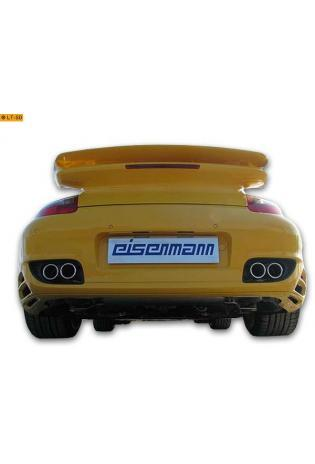 EISENMANN Duplex Sportauspuff Porsche 911 Typ 997 Turbo 3.6l Turbo rechts links je 2 x 76mm eingerollt mit Klappensteuerung