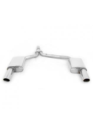 FOX Sportauspuff Audi A4 B8 Lim. Avant inkl. S-Line Frontantrieb Quattro 2.0l rechts links je 1 x 100mm schräg (RohrØ 2 x 63.5mm)