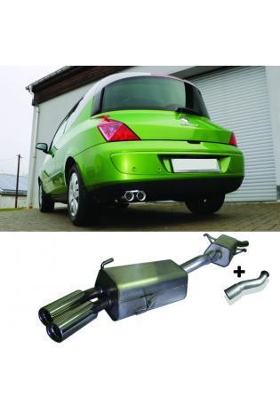 FOX Sportauspuff Komplettanlage ab Kat. Renault Avantime 2.0l Turbo 2 x 80mm