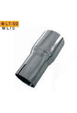 Einzelmuffe Ø 88.9mm (d1) außen 78-98mm (d2) Länge 150mm Edelstahl FOX Universal