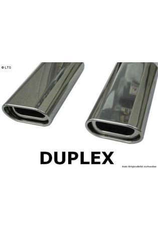GESTEC Sportauspuff Duplex Endschalldämpfer 135x80 mm flachoval rechts-links BMW 1er E82 E88 Coupe & Cabrio 118d/120d