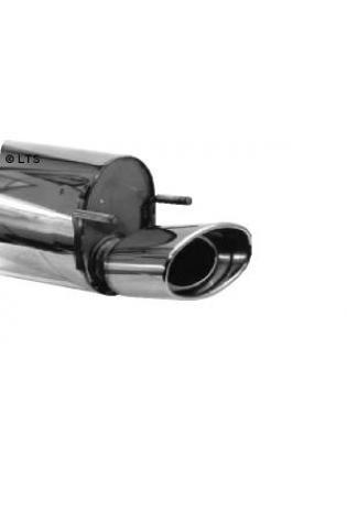 Opel Corsa B Bj. 93-00 1.0l  1.2l  1.4l  1.6l  1.5l D  1.5l TD  1.7l D  BASTUCK Sportauspuff 153x95mm oval eingerollt mit Einsatz (AnschlussØ 63mm)