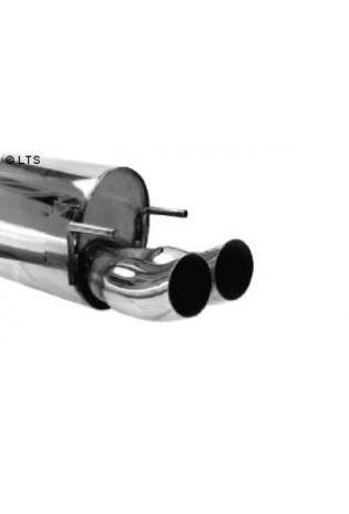 Opel Corsa B Bj. 93-00 1.0l  1.2l  1.4l  1.6l  1.5l D  1.5l TD  1.7l D  BASTUCK Komplettanlage ab Kat. 2 x 76mm DTM (AnschlussØ 63mm)