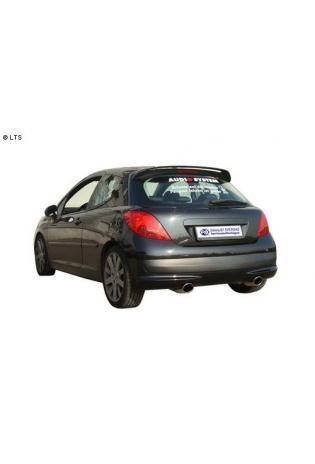 FOX Duplex Sportauspuff Peugeot 207 und 207cc ab Bj. 07 1,4 1,6 und 1.6l HDI rechts links je 90mm (RohrØ 55mm)
