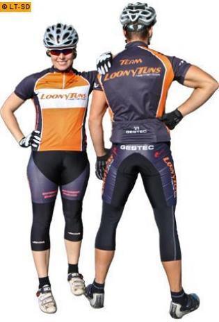 Loony Tuns BikeWear Fahrrad KOMPLETTSET Trikot + Weste + Hose