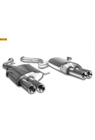 BMW M3 E92 u. E93 ab Bj. 07 4.0l FOX Sportauspuff rechts links je 2 x 90mm eingerollt gerade mit Absorber (RohrØ 70mm)
