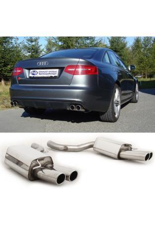 FOX Duplex Endschalldämpfer für Audi RS6 4F Limousine Avant rechts/links 2x 80mm