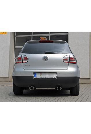 Ulter Duplex Sportauspuff 120x80mm rechts-links - VW Golf 5 1.4l bis 2.0l FSI und 1.9 TDI bis 2.0 TDI