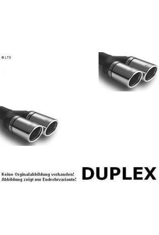 Ulter Duplex Sportauspuff 2 x 70mm rechts-links, eingerollt - Opel Astra H 1,3 CDTI bis 1.9 CDTI Caravan