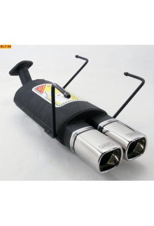 Ulter Sportauspuff 2 x 80mm eingerollt - Nissan Almera Fließheck ab 95 bis 00 1.4l  1.6l  2.0l Diesel