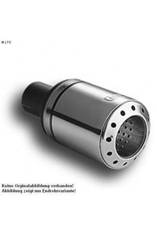 Ulter Sportauspuff 1 x 100mm eingerollt - Nissan Almera N16 ab Bj. 00 Fließheck 1.5l bis 1.8l