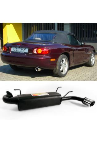 Ulter Sportauspuff Mazda MX 5 NB ab Bj. 98 1.6l bis 1.8l 1x90mm eingerollt