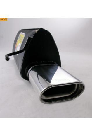 Ulter Sportauspuff 1 x 140x70mm eingerollt - Fiat Grande Punto Typ 199 ab Bj. 05 1.2l bis 1.4 16V