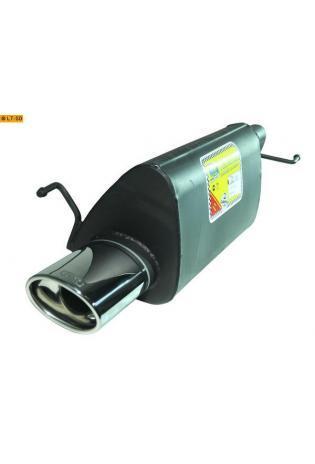 Ulter Sportauspuff 1 x 120x80mm eingerollt - Opel Corsa D ab Bj. 06 1.0l 12V bis 1.4 16V
