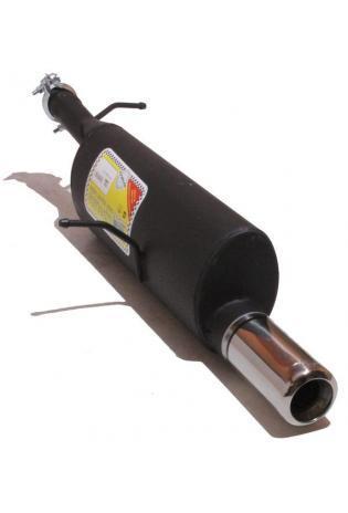 Ulter Sportauspuff 1 x 80mm eingerollt - Peugeot 307 Fließheck ab Bj. 01 bis 07 1.4l bis 1.6l