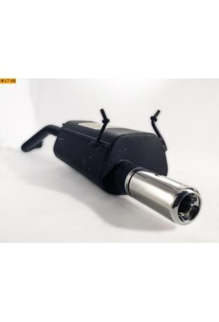 Ulter Sportauspuff 1 x 80mm eingerollt - Renault Megane II Fließheck ab Bj 99 bis 02 1.4l bis 2.0
