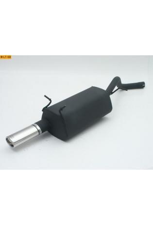 Ulter Sportauspuff 1 x 95x65mm eingerollt - Renault Megane II Fließheck ab Bj 99 bis 02 1.4l bis 2.0