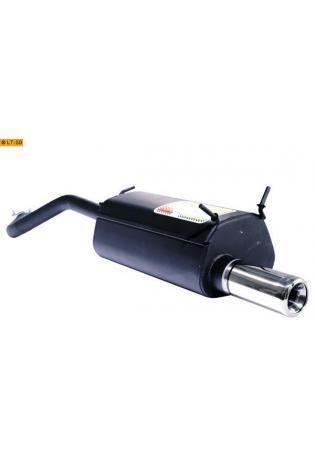 Ulter Sportauspuff 1 x 80mm eingerollt - Renault Megane Coupe & Coach ab Bj 95 bis 02 1.6l bis 2.0
