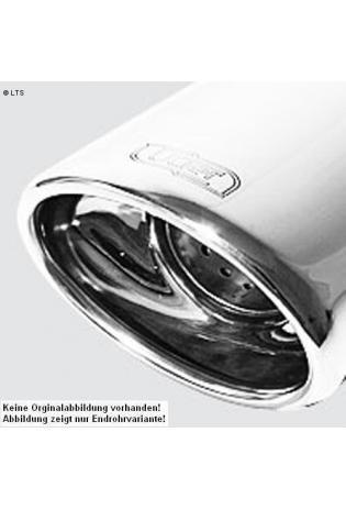Ulter Sportauspuff 1 x 120x80mm eingerollt - Audi A4 8K Bj. 08-11 1.8l TFSI  2.0l TDI