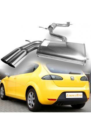 FSW Sportauspuff Komplettanlage Seat Leon 1P 2x76mm rund schräg Edelstahl  GRUPPE A+