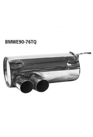 BMW 3er E92 Coupe  E93 Cabrio  bis Bj. 02  318i  320i  320si BASTUCK Racing Komplettanlage ab Kat. rechts links je 2 x 76mm schräg geschnitten (AnschlussØ 63mm)