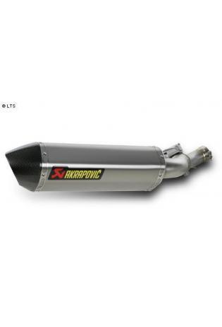 Akrapovic elliptischer Schalldämpfer mit Carbon Außenhülle Typ Slip-on inkl. VBR in Titan - Honda VFR 1200 F ab Bj.2010