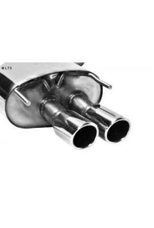 BASTUCK Sportauspuff links Opel Insignia Frontantrieb u. Allrad Kombi ab Bj. 08 1.6l  1.8l  2.0l  2.8l  2.0l CDTI  2 x 76mm eingerollt (RohrØ 70mm)