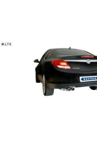BASTUCK RACING Komplettanlage ab Kat.Opel Insignia Frontantrieb Limousine ab Bj. 08 1.6l  1.8l  2.0l  2 x 76mm eingerollt (RohrØ 70mm)