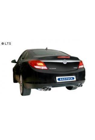 BASTUCK RACING Komplettanlage ab Kat. Opel Insignia Frontantrieb Limousine ab Bj. 08 1.6l  1.8l  2.0l rechts links je 2 x 76mm eingerollt (RohrØ 70mm)