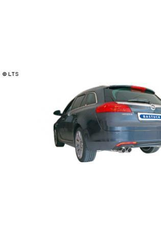 BASTUCK Sportauspuff inkl. Zubehör Opel Insignia Frontantrieb Kombi ab Bj. 08 1.6l  1.8l  2.0l  2.0l CDTI  2 x 76mm eingerollt (RohrØ 70mm)