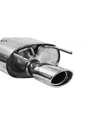 BASTUCK Sportauspuff inkl. Zubehör Opel Insignia Frontantrieb Kombi ab Bj. 08 1.6l  1.8l  2.0l  2.0l CDTI  1 x 120x80mm oval (RohrØ 70mm)