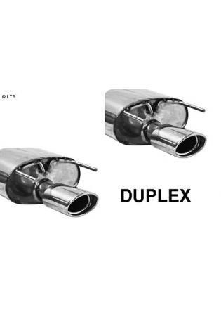 BASTUCK Duplex Sportauspuff Opel Insignia Frontantrieb Kombi ab Bj. 08 1.6l  1.8l  2.0l  2.0l CDTI  rechts links je 1 x 120x80mm oval (RohrØ 70mm)