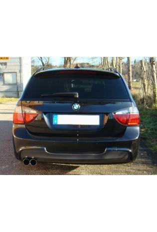 EISENMANN Sportauspuff Endschalldämpfer Edelstahl BMW E90 Limousine und E91 Touring 330i - 330xi - 2 x 70mm gerade poliert - RACE-Version
