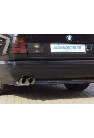 EISENMANN Sportauspuff Endschalldämpfer Edelstahl BMW E34 - 2 x 70mm gerade poliert - RACE-Version