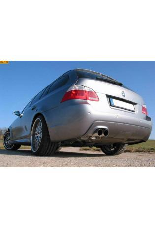 EISENMANN Sportauspuff Endschalldämpfer Edelstahl BMW E60 Limousine und E61 Touring 520i  523i  525i  530i - 2 x 83mm gerade poliert - RACE-Version