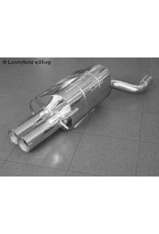 EISENMANN Sportauspuff Endschalldämpfer Edelstahl Mercedes Benz W209 Coupe - 2 x 83mm gerade poliert - RACE-Version