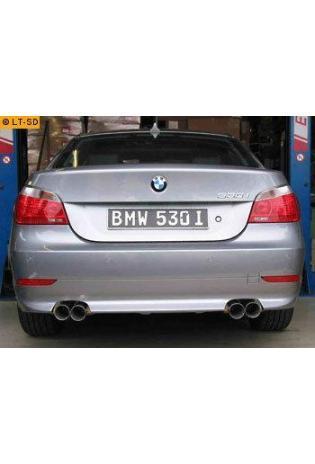 EISENMANN Sportauspuff Duplex Endschalldämpfer Edelstahl BMW E60 Limousine - rechts links je 2 x 76mm gerade hartverchromt - RACE-Version