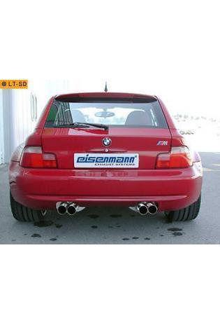 EISENMANN Sportauspuff Duplex Endschalldämpfer Edelstahl BMW Z3 E36-7 und E36-8 2.2l  3.0l - rechts links je 2 x 76mm gerade poliert - RACE-Version