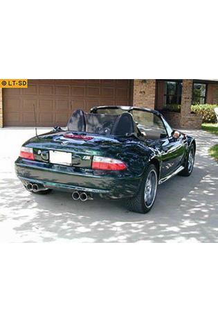 EISENMANN Sportauspuff Duplex Endschalldämpfer inkl. Anschlussrohren Edelstahl BMW Z3M E36-7S und E36-8S  3.2l - rechts links je 2 x 76mm gerade poliert - RACE-Version
