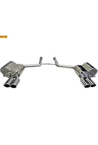 EISENMANN Sportauspuff Duplex Endschalldämpfer Audi A6 4F 3.2l FSI Quattro - rechts links je 2 x 90x70mm rundoval abgeschrägt eingerollt in hartverchromter Ausführung - RACE-Version