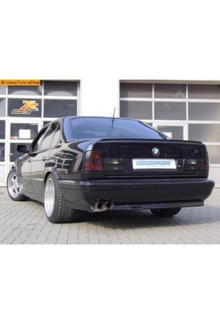 EISENMANN Sportauspuff Endschalldämpfer BMW E34 - 2 x 70mm gerade poliert - RACE-Version