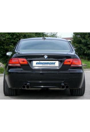 BMW 335i E92 Coupe und E93 Cabrio EISENMANN Duplex Sportauspuff rechts links je 2 x 76mm gerade poliert in hartverchromter Ausführung - RACE-Version