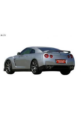 Nissan GT-R R35 ab Bj. 09 3.8l REMUS RACING Komplettanlage inkl. Kat-Ersatzrohr rechts links je 2 x 127mm schräg
