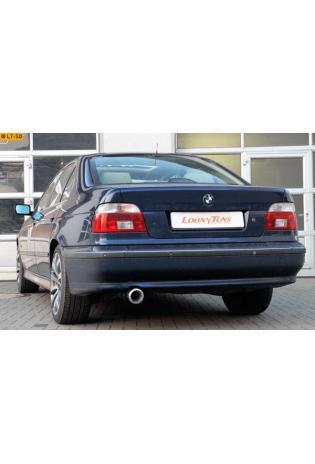 Ulter Sportauspuff 1 x 80mm eingerollt - BMW E39 Limousine Touring ab Bj 97 520i bis 528i und 525d